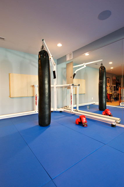An upmarket home boxing gym
